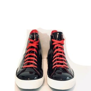 Converse patent leather high tops